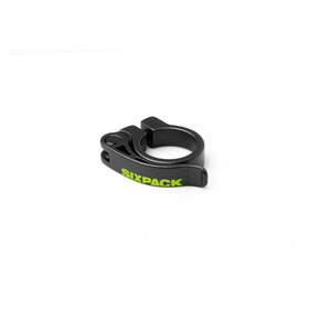 Sixpack Menace Collier de selle Ø31,8mm, black/neon yellow